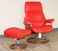 Red Leather Chair Stressless View Signature Base Medium Paloma Tomato Red Leather By