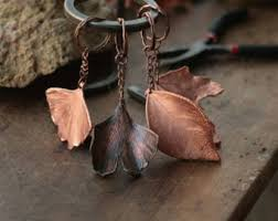 copper electroforming ginkgo leaf pendant leaves copper electroformed