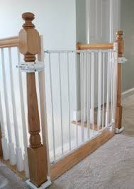 How To Make A Banister For Stairs Amazon Com No Hole Stairway Baby Gate Mounting Kit By Safety