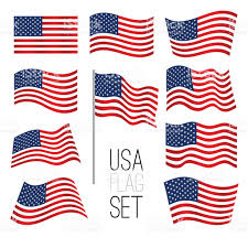 Flags Of The United States United States Flag Set Stock Vector Art 518359036 Istock