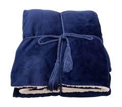 Faux Fur Electric Throw Amazon Com Simplicity Faux Fur Blankets Throw Reversible 50