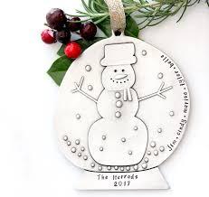 family snow globe ornament