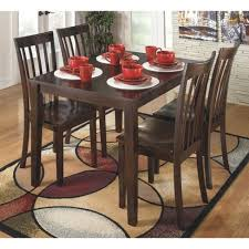 wood dining room sets hyland rectangular dining room table set wood reddish brown