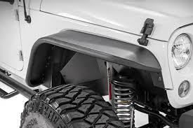 jeep wrangler white 4 door tubular front fender flares for 2007 2017 jeep wrangler jks 10506