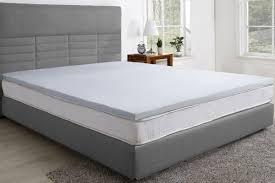 trafalgar gel infused memory foam mattress topper with bamboo