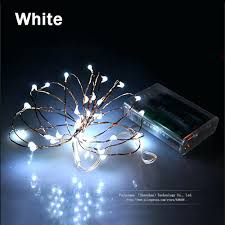 led string lights outdoor white wire rice with silver solar 21066