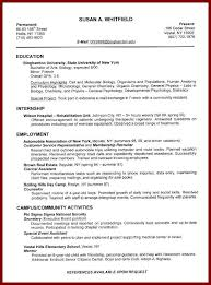 Sample College Freshman Resume by 13 College Student Resume No Previous Employment Sendletters Info