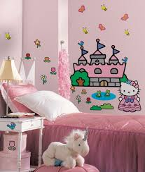 princess wall decals and murals color the walls of your house princess wall decals and murals kitty princess castle giant wall stickers stickers