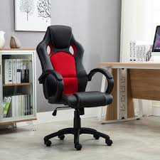 Car Office Desk High Back Race Car Style Seat Office Desk Chair Gaming