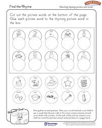find the rhyme u2013 kindergarten language arts worksheets u2013 jumpstart