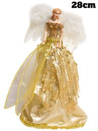 christmas tree angel christmas tree angel fairy topper 28cm decoration traditional gold
