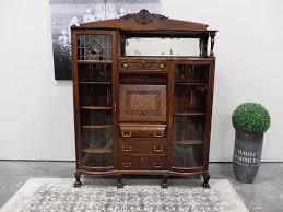 antiques by design oak victorian bookcase drop front desk