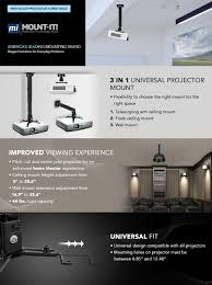amazon com mount it wall or ceiling projector mount with