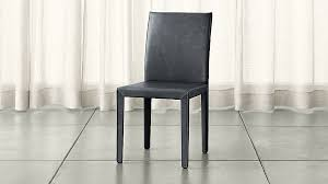 Crate And Barrel Dining Table Folio Oceana Blue Top Grain Leather Dining Chair Crate And Barrel