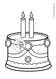 cake birthday party coloring pages for 2 years coloring pages