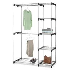 Wardrobe Closet Organizer by Double Rod Freestanding Portable Clothes Wardrobe Closet Organizer