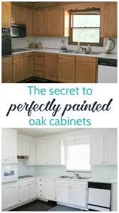 How To Paint Your Kitchen Cabinets Like A Professional Painting Oak Cabinets White An Amazing Transformation Lovely Etc