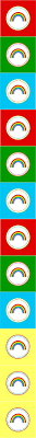 free rainbow unicorns sticker printable freebies