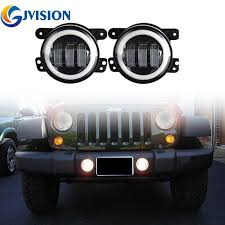 2017 jeep wrangler fog light bulb size 4 inch 30w led foglights halo l front bumper driving light bulb