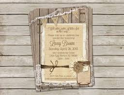 rustic burlap and lace baby shower invitation gender neutral