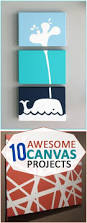 Diy Nursery Decor Pinterest by 25 Unique Whale Canvas Ideas On Pinterest Whale Themed Nursery
