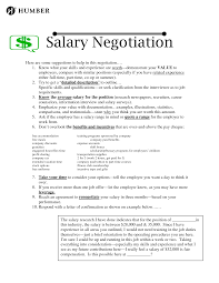 Resume One Job by Salary Negotiation Letter Templates Baileybread Us