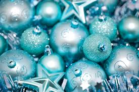 photo of cyan blue christmas baubles free christmas images