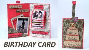 handmade birthday card for mom pull tab sliding greeting card