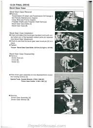 2003 2007 Kawasaki Kaf950 Mule 3010 Diesel Side By Side Service Manual