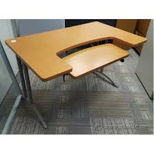office desk with adjustable keyboard tray maple 48 student workstation desk w adjustable keyboard tray