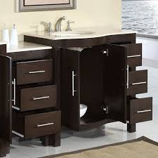 silkroad 53 inch modular traditional bathroom vanity marfil