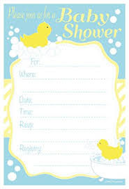 duck baby shower invitations fill in style 20 count