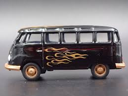 black volkswagen bus kinsmart 1 32 volkswagen vw black white zebra new beetle toy car