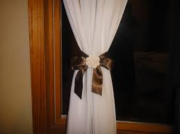 Curtains With Ribbon Ties Tie Curtain Back With Ribbon I Would Choose A Gray Satin Ribbon