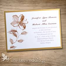 simple wedding invitations brown flower simple golden layered wedding invites iwfc012