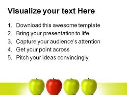 stand out red apple leadership powerpoint template 0810
