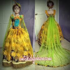 desain baju gaun anak dress dan gaun batik fashion anak modern cinta kids fashion show
