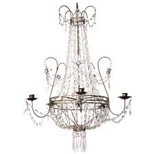 Chandelier And Pendant Lighting by Early 19th Century Swedish Crystal Chandelier 19th Century