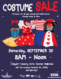 halloween costumes sale costume closet yard sale colquitt county arts center