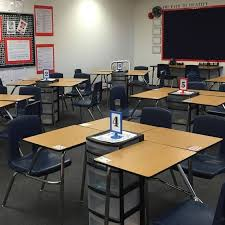 Classroom Desk Organization Ideas Desk Towers This Idea Except I Would Use Three Desks On