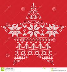 scandinavian nordic winter stitch knitting christmas pattern in