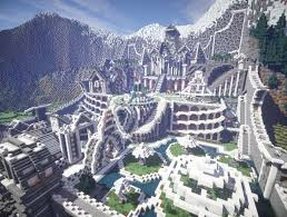 residence in the mountains castle building minecraft garden