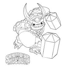 skylanders trap team coloring pages wolfgang coloringstar