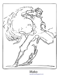 avatar legend of korra coloring pages mako avatar legend of