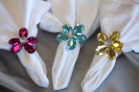 flower napkin rings the finishing touch