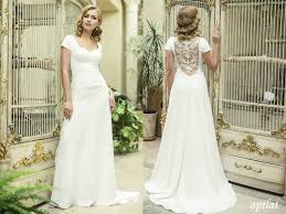 Wedding Dress With Train Open Back Crepe Wedding Dress With Lace On The Back By Apilat On