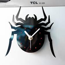 horloges cuisine cool mode creative noir araignée aimant horloges cuisine horloge