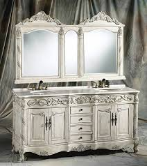72 inch antique ivory bathroom vanity set