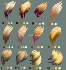 as requested some hair palettes in varying pastel shades made