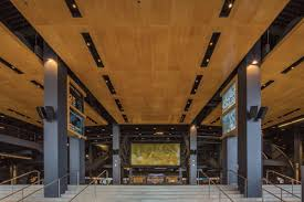 Wood Slat Ceiling System by Ce Center